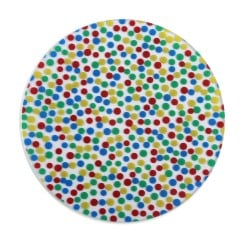 Polka Dot Patterned Biocryl 2mm/125mm - Round (10/pkg)