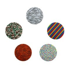 Assorted Patterned Biocryl 2mm/125mm - Round (10/pkg)