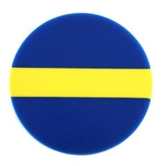 Blue, Yellow and Blue Bioplast® Material 3mm/125mm - Round (10/pkg)