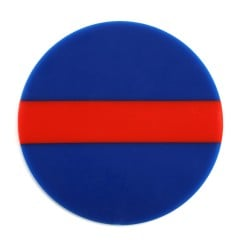 Blue, Red and Blue Bioplast® Material 3mm/125mm - Round (10/pkg)