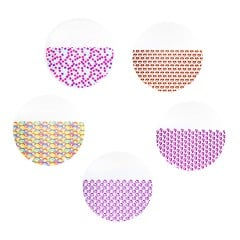 "Chasing Rainbows Patterned Clear Retainer Material 0.040"" (1mm)/125mm - Round (25/pkg)"