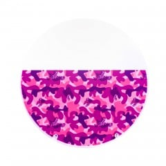 "Pink Camouflage Patterned Clear Retainer Material 0.040"" (1mm)/125mm - Round (6/pkg)"