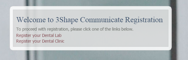 3Shape Communicate Registration